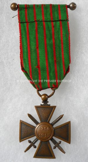 French Croix de Guerre 1914-1915 with multi stars & palm leaves.