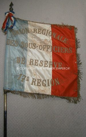 French Military Sous Officer's Reserve Drapeau (Flag).Circa.1920's.17th Region.