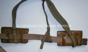 French Indochine period leather field equipment. 1947-56.