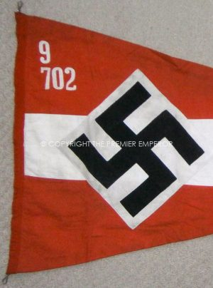 """German Hitler Youth """"Wimpel"""" or Pennant."""
