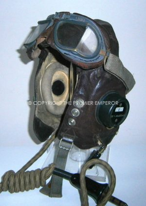 British World War Two RAF C-type Flying helmet & MK VIII goggles