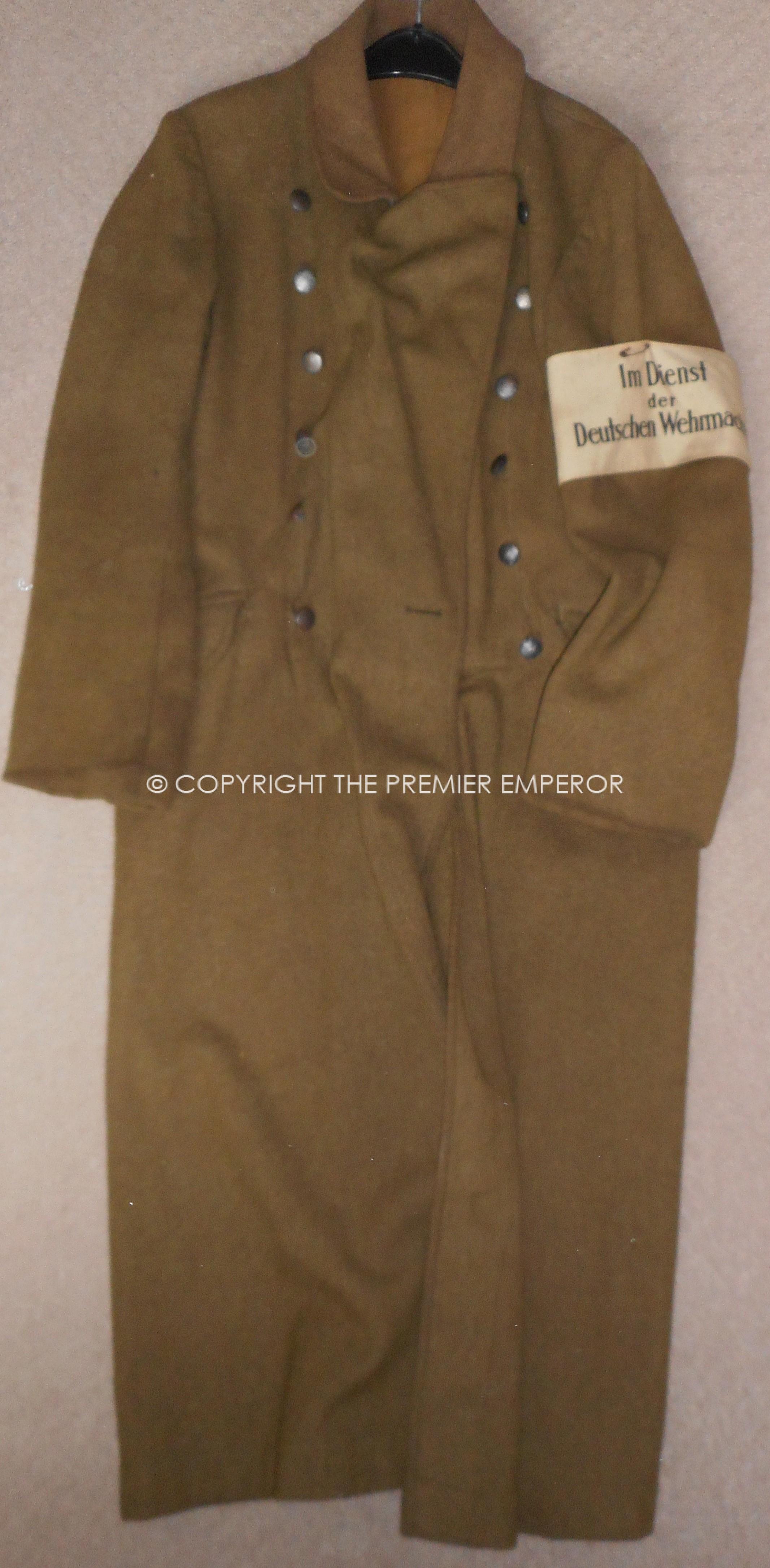 German World War Two R A D  (Reich Arbeits Dienst  Labour Korps) Greatcoat