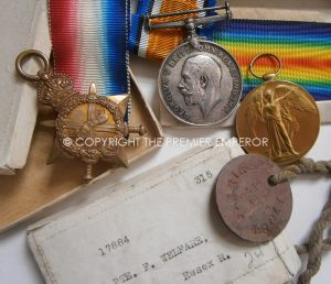 British 1914/1915 Trio to the Essex Regiment complete with Original boxes and Identity Tag.