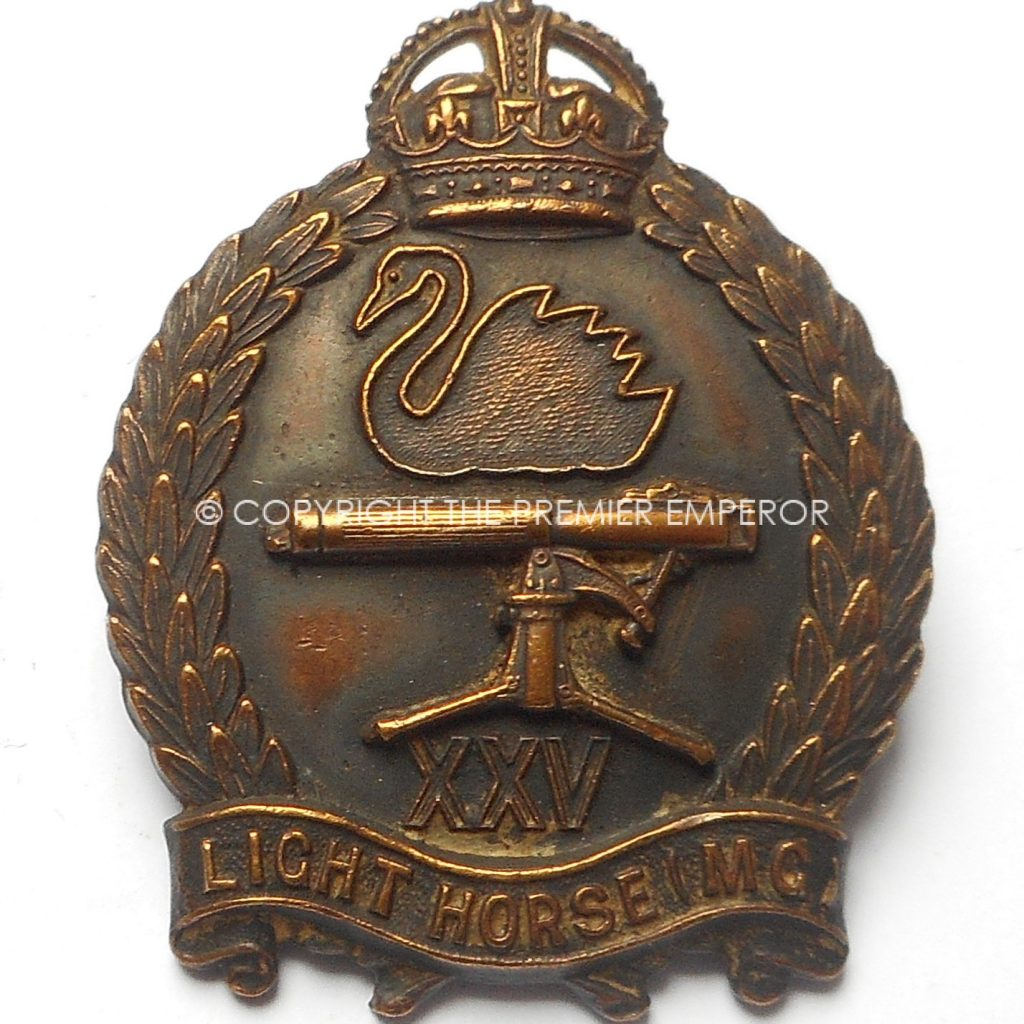 australian 25th light horse machine gun regiment cap badge. Black Bedroom Furniture Sets. Home Design Ideas