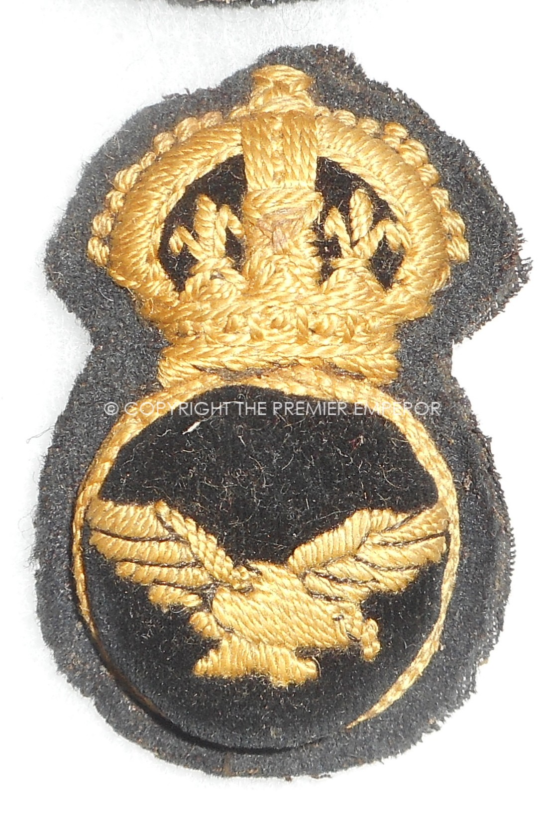 BRITISH ROYAL AIR FORCE (RAF) NCO'S CAP INSIGNIA 1918