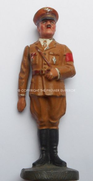 GERMAN THIRD REICH PERIOD FIGURE OF ADOLF HITLER WITH PORCELAIN HEAD BY ELASTOLIN. Circa.1930's.