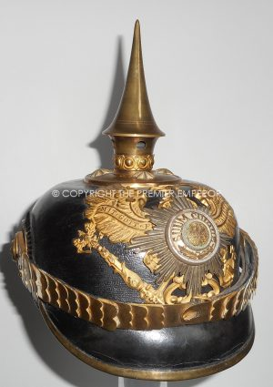 IMPERIAL GERMAN,PRUSSIAN GUARDS OFFICER SCHOOL, OFFICERS PICKELHAUBE Circa.1915.