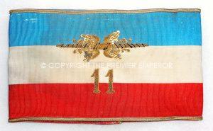 FRANCE. BRASSARD D'ETAT-MAJOR DE 11th CORPS D'ARMEE. 1940.