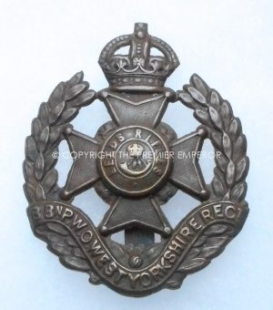 BRITISH 8th BATT. P.W.O.WEST YORKSHIRE REGT. CAP BADGE.Circa.1908-21.