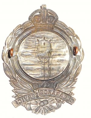 BRITISH ROYAL NAVY MINE CLEARANCE SERVICE BADGE.Circa.1919.
