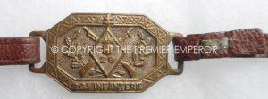 FRANCE. 26th INFANTERIE WRIST FOB/BRACELET ON STRAP.Circa.1914-1940