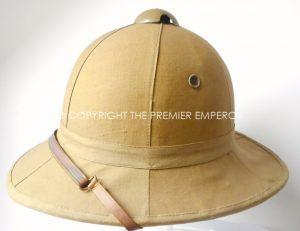 ITALIAN  ARMY 1930′-1944 TROPICAL SUN HELMET .