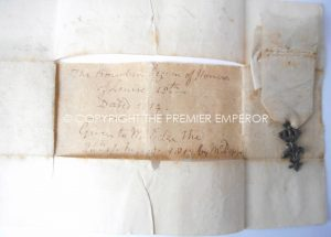 "A FRENCH ORDRE DU ""LYS"" 1814 AWARDED TO ENGLISHMAN WITH SUPPORTING PAPERWORK."