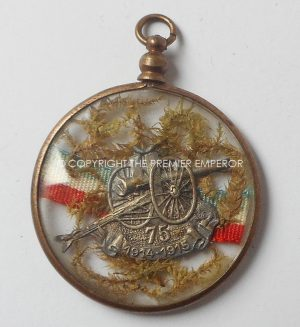 FRANCE GREAT WAR COMMEMORATION MEDALLION FOR THE SOIXANTE -QUINZE.(CANNON)