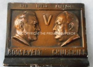BRITISH HOME FRONT PROPAGANDA CURIO. DATED 1941.CHURCHILL & ROOSEVELT.