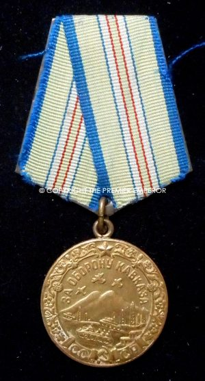 RUSSIA. SOVIET MEDAL FOR THE DEFENCE OF THE CAUCASUS 1940.