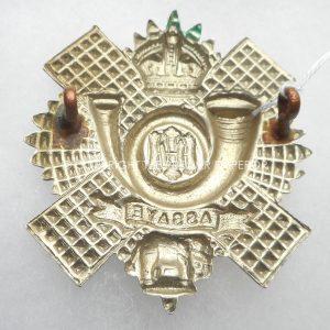 BRITISH HIGHLAND LIGHT INFANTRY CAP BADGE. Circa. 1898-1921