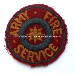 British Army Fire Service badge.Circa.1944.(Small size)