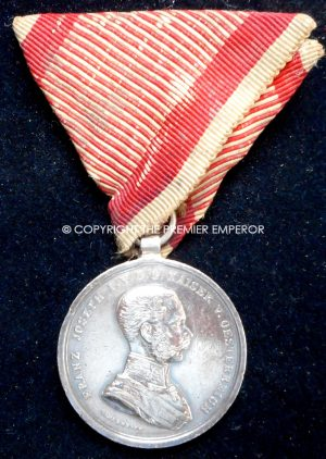 Austria. Medal for Bravery.Franz Joseph 1st. Circa.1866-1914
