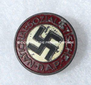 German N.S.D.A.P. Party badge.RZM M1/14 .Circa.1942 (Button Hole)