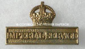 British Imperial Service badge.(Territorial Force) Great War 1914/1918