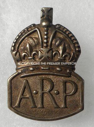 British ARP (Air Raid Precautions) Hallmarked silver lapel badge.Circa.1939/45