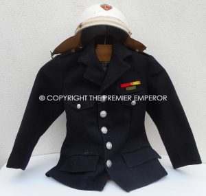 France. Childs Paris Police tunic and motorcycle helmet.Circa.1940's/1950's.