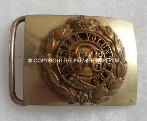 British Engineer Volunteers waist belt clasp.(Victorian crown.) Circa.1890
