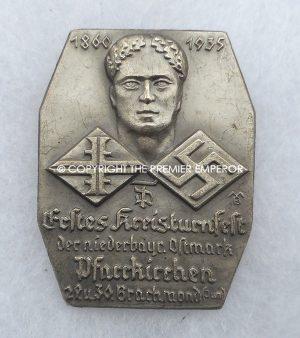 German Tinnie/Day badge.Pfarrkirchen.29-30 Brachmond 1935