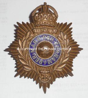 British Royal Marine helmet plate (Kings Crown)