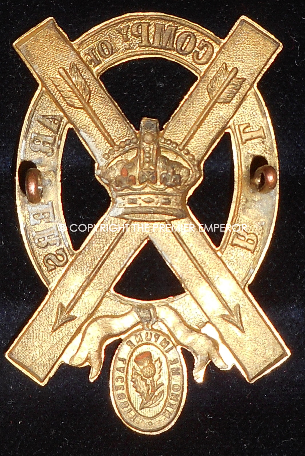 british royal company of archers hat insignia  queens
