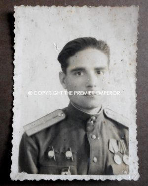 Russia. Soviet World War Two photograph of a decorated Russian soldier. Circa.1940's