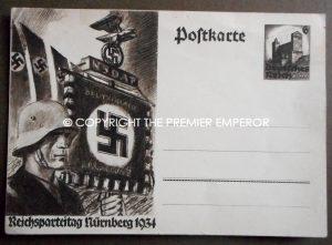 """German postcard """"Reichsparteitag Nurnburg 1934."""