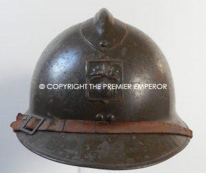 France Défense Passif (D.P.) Civil defence M26 Adrian helmet. Circa.1935-40