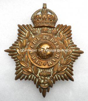 British Royal Marine Helmet plate Circa.1914/1945 (King's Crown)