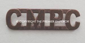 "Canadian ""C.M.P.C."" brass shoulder title."