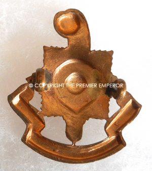 British 1914/1918 Royal Sussex Regiment All brass Economy cap badge.Circa.1916
