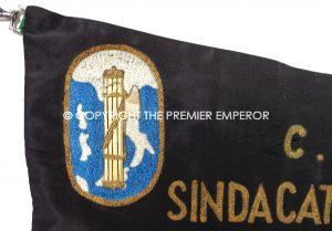 Italian Fascist. C.F.L.I. Fascist Provincial Union Miners and Cavaters bullion banner.Region:Siracusa.Circa.1930's