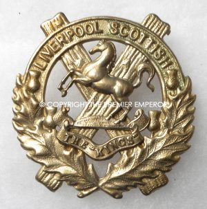 British 10th Battalion, the King's Liverpool Scottish cap badge.Circa.1914/1918