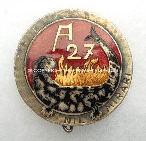 France Scarce A27 Bovenberg Ligne Maginot insignia. Circa.1930's.