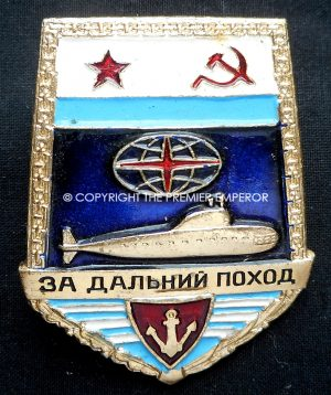Russia. Submarine Fleet Long Distance Voyage badge. Type 2. Circa.1960's/70's