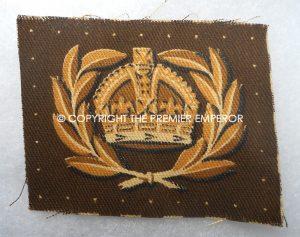 British Army Proficiency badge. World War Two Warrant Officer sleeve rank insignia. (Printed)Circa.1939/1945