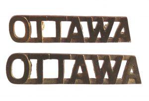 "Canada. Pair of ""Ottawa"" brass shoulder titles"