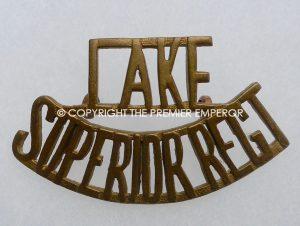 Canada.Lake Superior Regiment brass shoulder title.