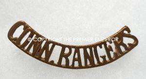 British Connaught Rangers brass shoulder title Circa.1914