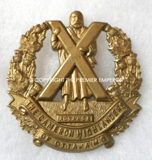 Canada. Cameron Highlanders of Ottawa(M.G.) cap badge.Circa.1939