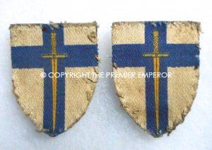 British pair of 2nd Army printed formation signs. Circa.1939/1945