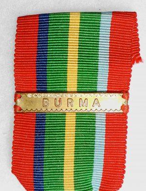 British The Pacific star with Burma clasp. Circa.1939/1945