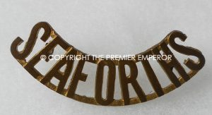 Canada. The Seaforth Highlanders of Canada brass shoulder title.Circa.1928