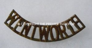 Canada. The Wentworth Regiment brass shoulder title.Circa.1928